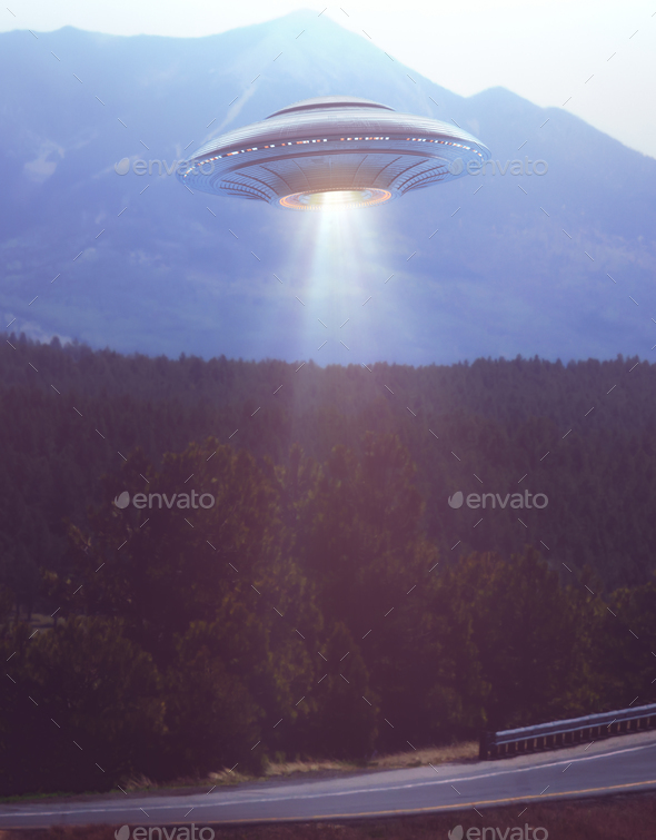 Unidentified Flying Objects UFO - Stock Photo - Images