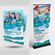 Kids Swimming Lessons Flyer with Roll-Up Bundle - GraphicRiver Item for Sale