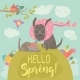 Dog and Cat Meeting Spring - GraphicRiver Item for Sale