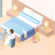 Woman Resting in Hotel Room Isometric Vector - GraphicRiver Item for Sale