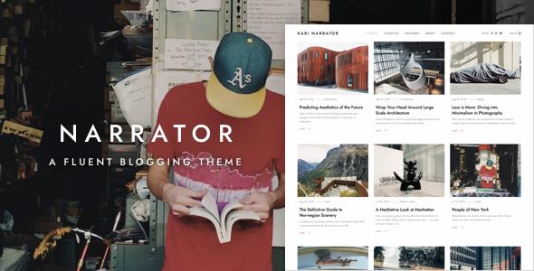 Narrator — A Fluent WordPress Blogging Theme - Personal Blog / Magazine