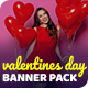 Valentines Day Facebook and Instagram Banner Set - GraphicRiver Item for Sale