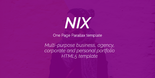Nix - One Page Parallax