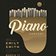 Piano Concert Flyer - GraphicRiver Item for Sale