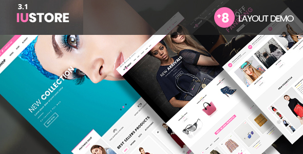 iuStore - Fashion Beauty  Cosmetic Shop  WooCommerce WordPress Theme