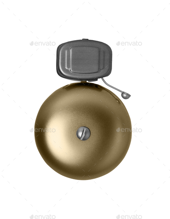 Alarm bell isolated on white - Stock Photo - Images