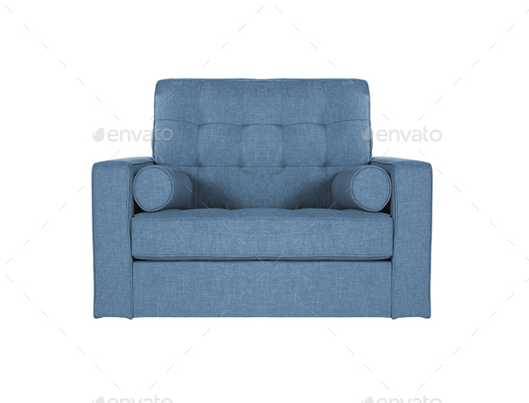 Fine Blue Sofa On White Background Gamerscity Chair Design For Home Gamerscityorg