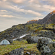 Only Trekking Tent on Small Platform among Boulders - PhotoDune Item for Sale