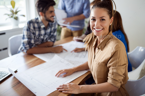 Company coworkers working in office - Stock Photo - Images