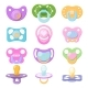 Pacifier Vector Baby Soother Child Nipple and Kids - GraphicRiver Item for Sale