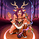 Female Faun is Making an Healing Ritual in the Wood - GraphicRiver Item for Sale