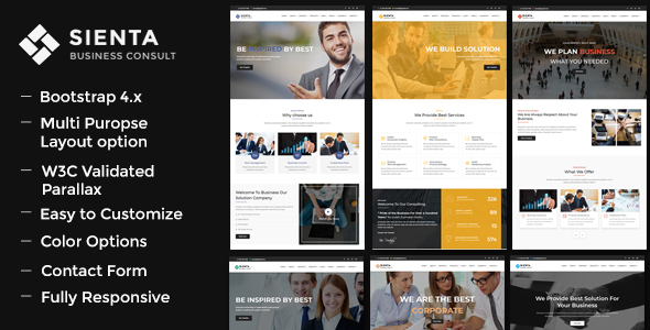 Sienta – Business Consulting and Corporate WP Theme Free Download
