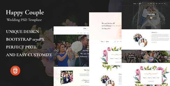 Happy Couple - Wedding HTML5 Template
