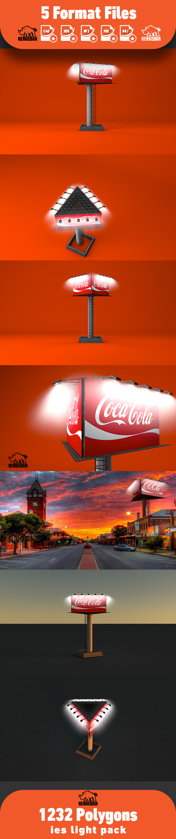 Billboard Advertising Version-3 - 3DOcean Item for Sale