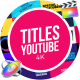 YouTube Titles Collection for Final Cut Pro X - VideoHive Item for Sale
