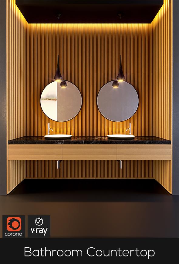 Contemporary Bathroom Set - 3DOcean Item for Sale