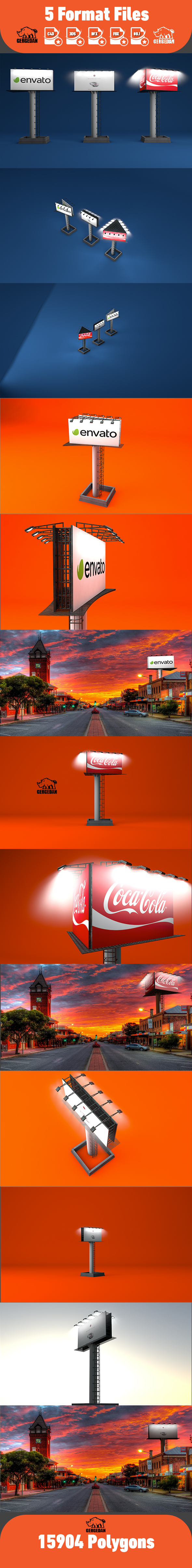 Billboard Advertising Pack - 3DOcean Item for Sale