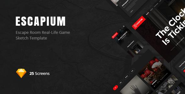 Escapium - Escape Room Game Sketch Template