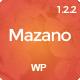 Mazano - Trendy Responsive WordPress Theme - ThemeForest Item for Sale
