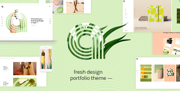 Agava – Fresh Design Portfolio Theme Free Download