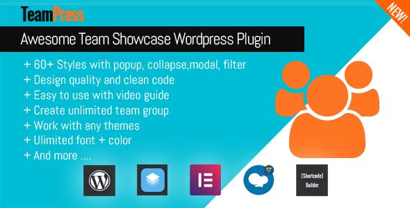 TeamPress - Team Showcase plugin - CodeCanyon Item for Sale
