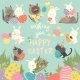 Easter Set with Bunny - GraphicRiver Item for Sale