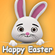 Happy Easter Lettering Background - VideoHive Item for Sale