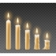Burning Candles Set - GraphicRiver Item for Sale