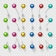 Colorful Thumbtacks or Pushpins - GraphicRiver Item for Sale
