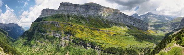 Ordesa national park in Huesca, Spain - Stock Photo - Images