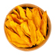 Dried mango strips in wooden bowl over white - PhotoDune Item for Sale