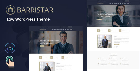 Barristar – Law WordPress Theme