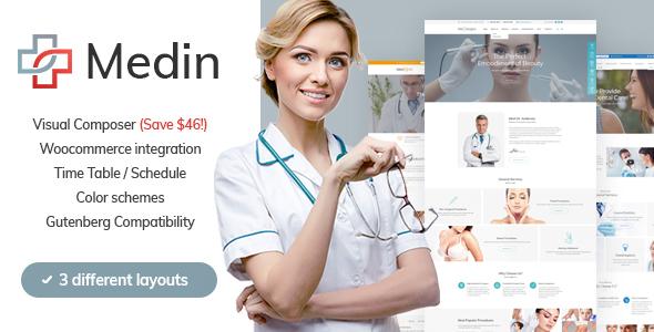 Medin – Medical Center WordPress Theme Free Download