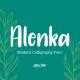 Alenka - Handlettering Font - GraphicRiver Item for Sale