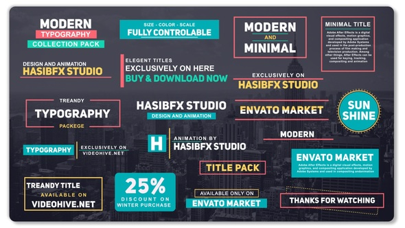 Modern Typography By Hasibfx Videohive