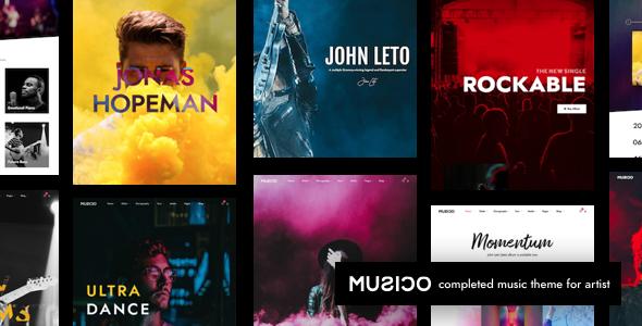 Musico | Music Band WordPress - Music and Bands Entertainment