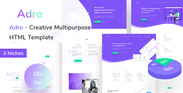 Adro - Multipurpose Creative HTML Template