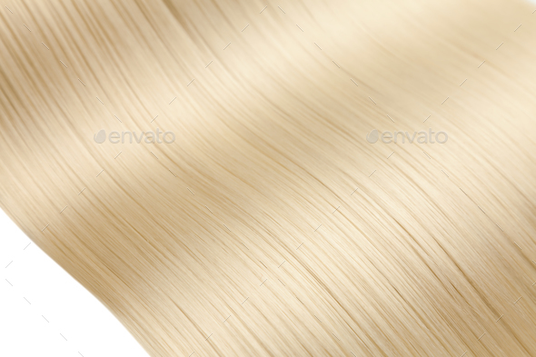 Closeup on luxurious glossy blonde hair - Stock Photo - Images