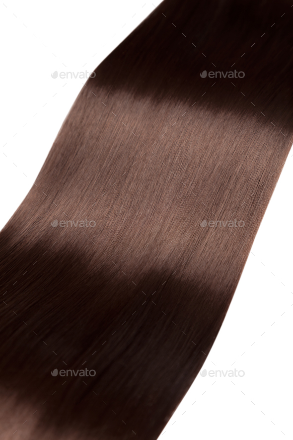 Closeup on luxurious glossy hair - Stock Photo - Images