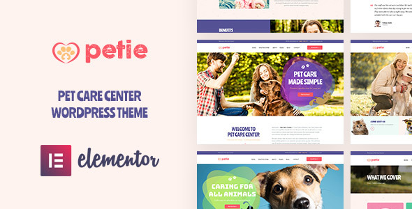 Petie - Pet Care Center & Veterinary WordPress Theme - Retail WordPress
