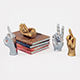 Figurine hand set for Table Top - 3DOcean Item for Sale