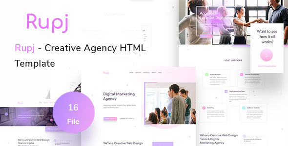 Rupj - Creative Agency HTML Template
