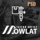 Dowlat - Inkd, Tattoo PSD Template - ThemeForest Item for Sale