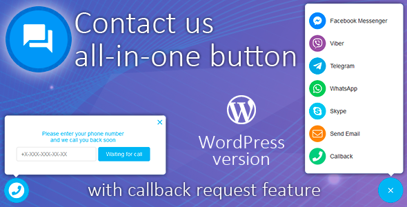 Contact us all-in-one button with callback request feature for WordPress