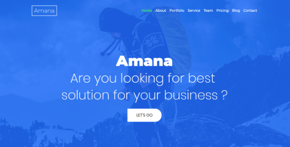 Amana – Multipurpose HTML5 Onepage Template Free Download
