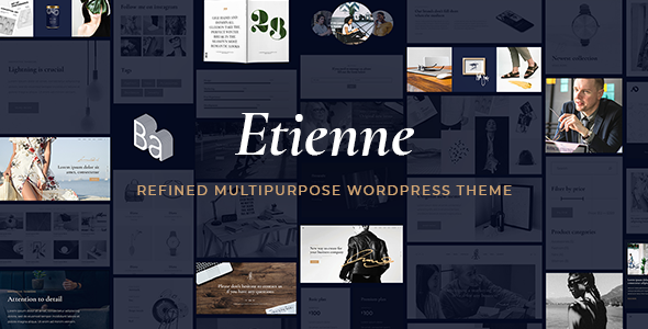 Etienne - Multipurpose Business & Agency Theme