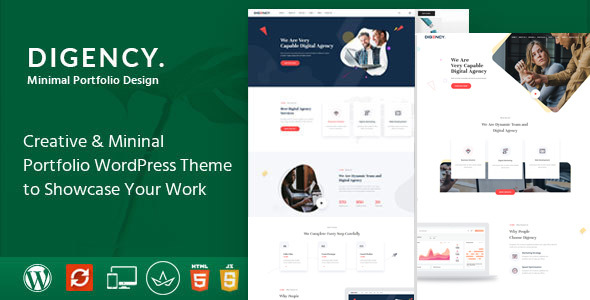 Digency – Multi-Purpose Portfolio WordPress Theme - Portfolio Creative