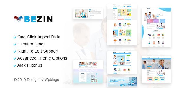 Bezin – Pharmacy & Health WooCommerce Theme