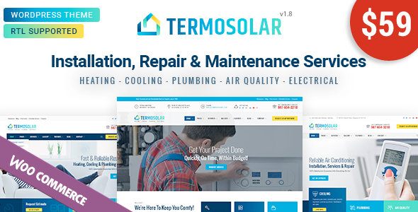 Termosolar - Maintenance Services WordPress Theme - Business Corporate