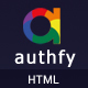 Authfy - Responsive Login and Signup Page Template - ThemeForest Item for Sale